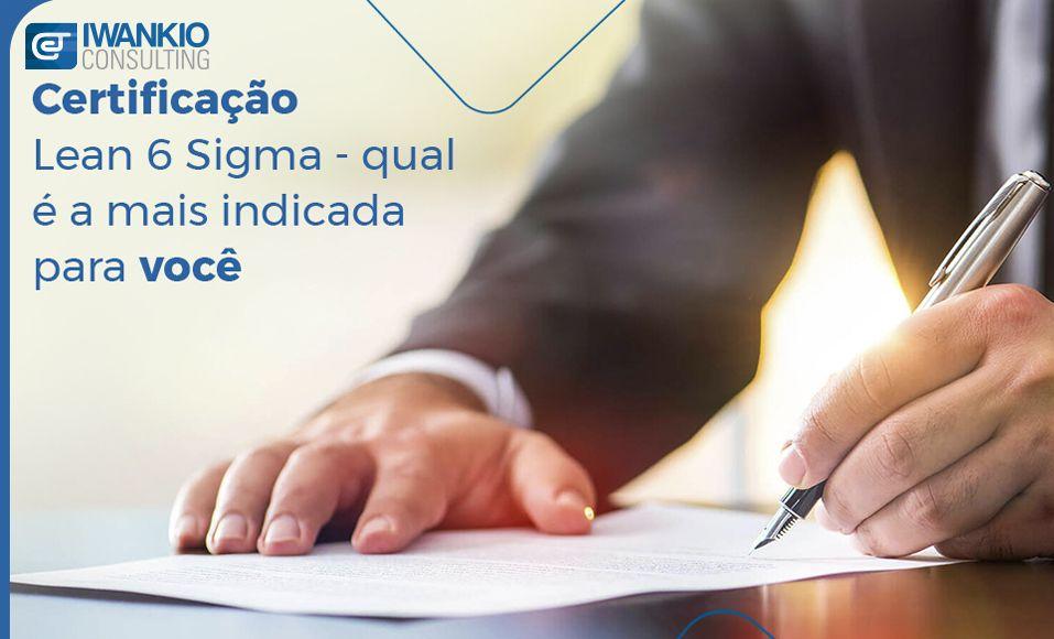 Certificação Lean 6 Sigma
